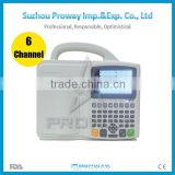 ECG-8806 CE Approved 6 Channel 12 Leads ECG/EKG Machine with 5.0 inch Color TFT LCD Display