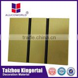 Alucoworld brushed aluminum composite and plastic exterior wall decorative panel with fast delivery time