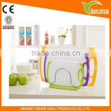 Antibacterial Non Slip Cutting Board PP/TPR cutting board Set Injection Molding New Design Shopping Board