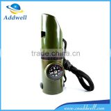 outdoor 7 in 1 multi functional survival emergency training whistle with compass LED light thermometer                                                                         Quality Choice