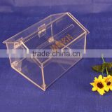 Acrylic Collecting Business Card Box,Acrylic Business Card Box For Exhibition, Creative House Ballot Box