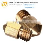 Customized Extrusion Head Copper Brass Nozzle for 3D Printer