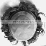 Alibaba China fine mono gray hair wig for men, lace front wig for black man, hair piece toupee