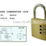 Heavy duty brass padlock cute combination lock combination zipper lock