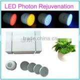 Purple Yellow Blue Red LED Light Therapy System Skin Rejuvenation Beauty Machine with Vibrating