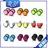 Double Sided Circular Acrylic Barbell Jewelry Ear Piercing Studs Wholesale