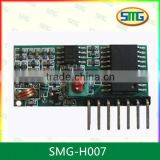 Learning code receiver module with 433mhz module