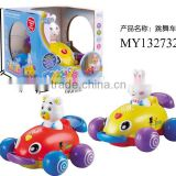 Cartoon animal dancing battery operate toy projection car with light & music