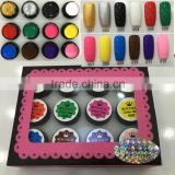 2015 fashion versatile uv gel nail polish 12 color soak off painting gel carving nail crystal powder
