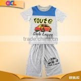Made in ningbo factory super quality casual stripes baby boys clothing set with hood