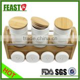 Wholesale High Quality Multifunctional Spice Dispenser white ceramic spice jar 7 pcs spice canister