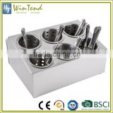 Kitchen organizer double line six grids stainless steel cutlery flatware holder                                                                                                         Supplier's Choice
