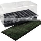 Hydroponics Greenhouse Trays Propagation Root Heat Mat /germination station plastic pots for nursery plant