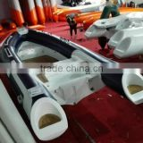 Top grade RIB520C teak inflatable boat with CE for sale