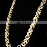 women female fashion gold thin stainless steel long link chain necklace