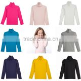 Baby Boy Girls Solid Turtleneck Cotton Variety of Colors T-shirts OEM Type Factory Manufacture Supplier Guangzhou
