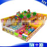Small children commercial indoor playground equipment with ball pool and slide