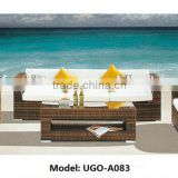 UGO Rattan Furniture 7 Seater Sofa Set with Aluminum Frame
