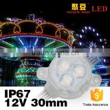Dream color hot sales 30mm 12V RGB DMX led pixel light with madrix controlled
