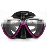 Diving Goggles Go Pro Mixture color Scuba Diving Mask Tempered Glasses For Go Pro Hero3 3+ 4 Xiaomi Yi Action Camera