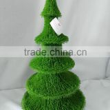 Artificial green grass tower sculpture plant topiary for garden landscaping ornamental d