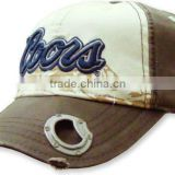 100% cotton baseball cap with built in beer bottle opener
