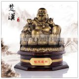 Bronze color resin buddha statue , chinese lucky fengshui buddha statue