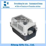 Plastic Two Doors Pet Dog Carrier Kennel Portable Crate Cage