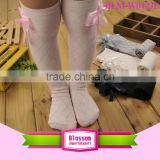Fashion Winter Autumn Warm Kids Trendy Knitted Stocking Leg Warmers Baby Girl Cotton Knee High Cozy Socks