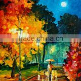 a girl with umbrella under moonlight abstract landscape oil painting on canvas for home kids room wall decoration                                                                         Quality Choice