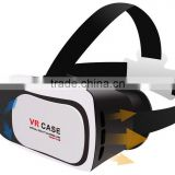 2016 factory new arrived Virtual Reality Glasses Case Plastic Google Cardboard 3D VR BOX 2.0 Adjustable 3D VR