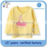 Eco-Friendly Bamboo Fiber Cotton Printed Long sleeve t shirts for Baby