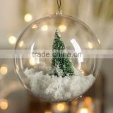 Ornament Clear Ball Shaped Fillable Plastic Containers