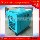 ISO9001 and CE 7.5kw 10hp Belt Driven Small Screw Air Compressor For Sale