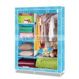 folding non-woven fabric aluminum bedroom wardrobe