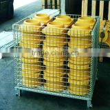 Steel foldable mesh box pallet in Nanjing NOVA/storage mesh pallet
