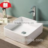 2015 FOSHAN latest super slim edge art cerami basin Italy style lavatory bowl sink bathroom vanity counter top wash basin