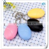 120db egg shape personal safety alarm anti attack alarm with keychain for child ladies elderly night workers