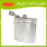 7oz stainless steel engraved hip flask metal flask