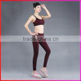 Top quality Sports Wear Women's Workout Yoga Legging And Sports Bra Set                                                                         Quality Choice