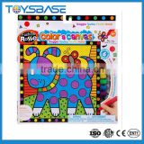 "9"" DIY kids art Kit canvas painting"