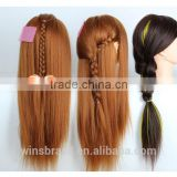 Factory produce salon equipment hair styling training head mannequin with human hair