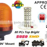 E-MARK SMD Flash Warning Light, ECE MARK SMD Rotating Warning Beacon (SR-BL-502S-3) Europe DIN Mount LED Beacons, 3 Functions