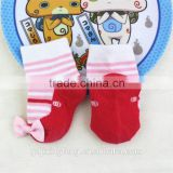 Customized beautiful good quality nice shoe baby socks with bowknot decorations made of cotton