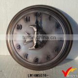 fish theme antique iron wall clock movement