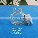 40ml oval candy glass jar with sweet cap