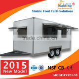 Saidong Hot and Popular Colorful Fiberglass Concession Free Moving Mobile Food Trailer FVR35-55