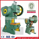 J23-63ton Single Crank C-Frame Pneumatic Punch Press Machine for Aluminum