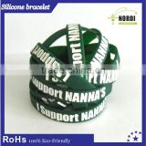 festive Party Supplies Silicone Wristbands for Christmas /Christmas gift custom silicone wristband