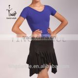 irregular lower hem pull on latin skirt